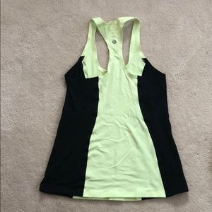 Lululemon Lime Green & Black Tank